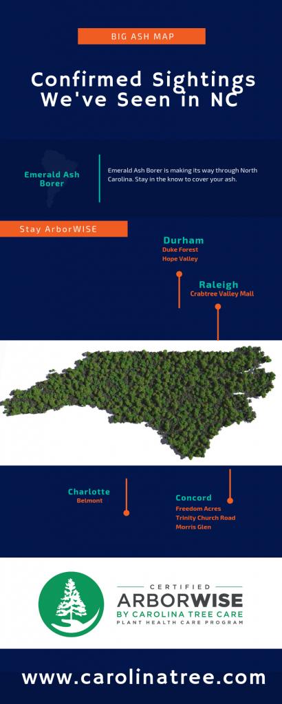 map of confirmed emerald ash borer sightings